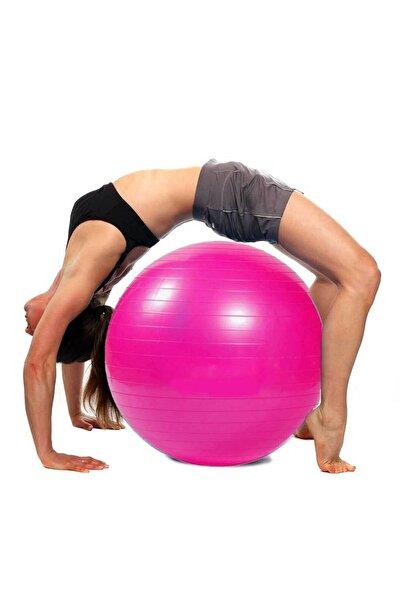 Oliva Nero 65 Cm Fitilli Pilates Topu Ve Pompa Seti Plates Denge Yoga Spor Egzersiz Top Jimnastik Fitness Gym