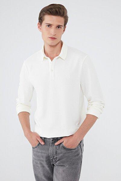 Mavi Erkek Beyaz Polo Tişört 065018-34519 065018-34519