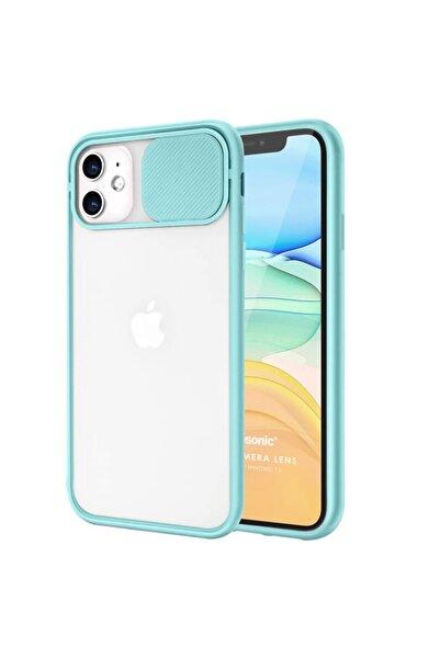 Kılıfland Iphone 12 Mini Kılıf Slider Uyumlu Kamera Korumalı Sürgülü Case Turkuaz