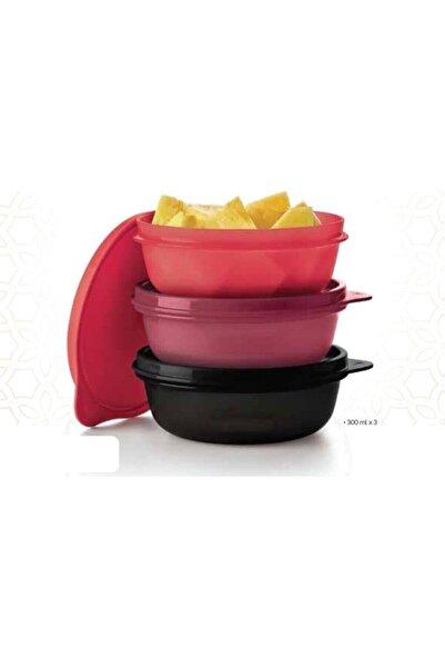 Tupperware Şeker Kaplar 300 Ml 3'lü Yeni Renk