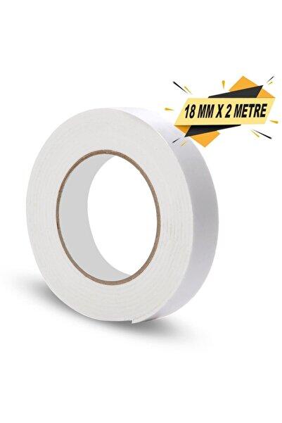 Badem10 Çift Taraflı Köpük Bant Montaj Bandı Beyaz 18 Mm X 2 Metre