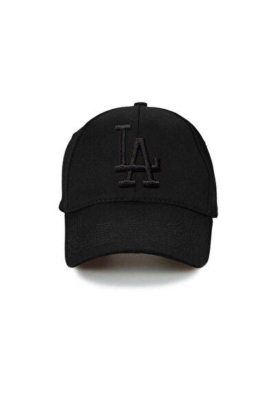 NuxFah La Los Angeles Şapka Unisex Siyah Şapka