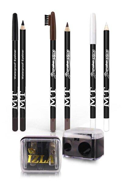 MT 4'lü Set Siyah Göz Kalemi + Beyaz Göz Kalemi + Kahverengi Kaş Kalemi + Izla Açacak