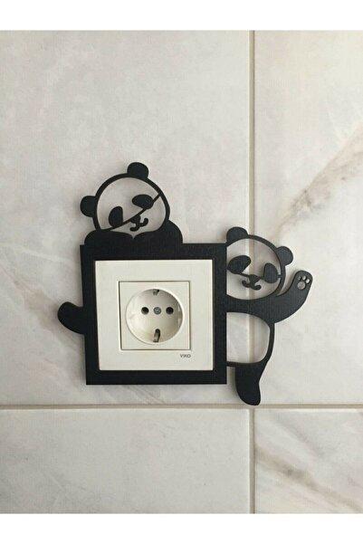 evdeucuz Panda Dekoratif Çocuk Odası Priz Çerçevesi