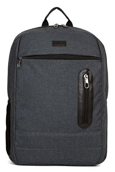 """Av A Dos Siyah Unisex 15.6"""" Laptop Notebook Bilgisayar Bölmeli Okul Seyahat Suya Dayanıklı Sırt Çanta"""