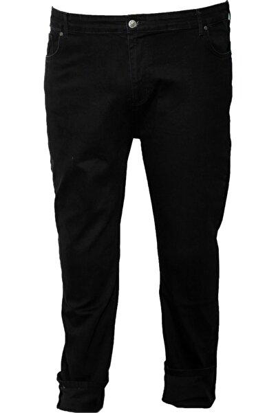 Lifeguard Erkek Siyah Büyük Beden Likralı Kot Pantolon