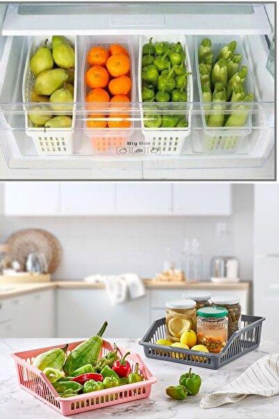 Mim Life 6'lı Buzdolabı Düzenleyici 2x Geniş 4x Dar Buzdolabı Organizer