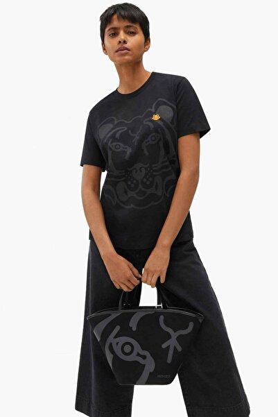 Kenzo Grafik Kaplan Logolu T-shirt