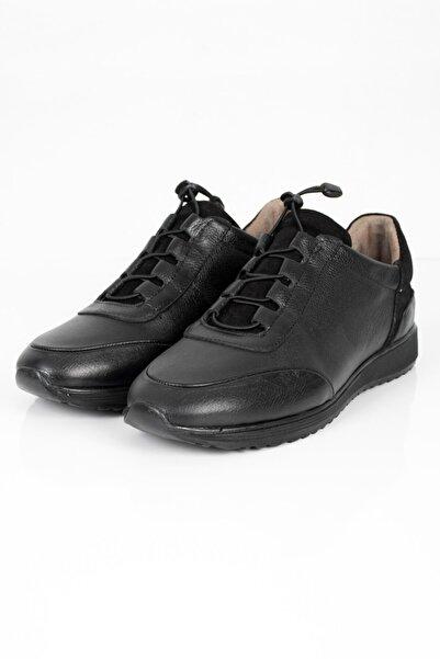 DeepSEA Erkek Siyah Bağcıklı Deri Ayakkabı 2001793
