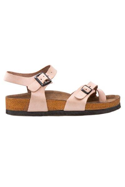 Pegia Kadın Pembe Hakiki Deri Parmak Arası Sandalet 215513