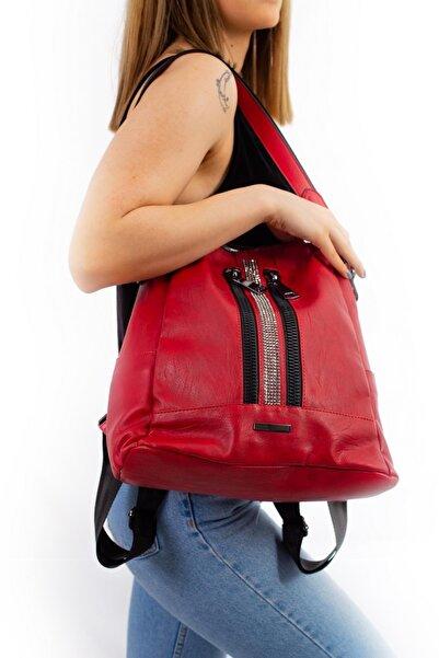 Limoya Bags Kadın Kırmızı El ve Sırt Çantası