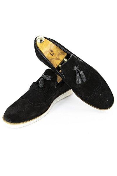 DeepSEA Erkek Siyah Püsküllü Deri Ayakkabı 2001798