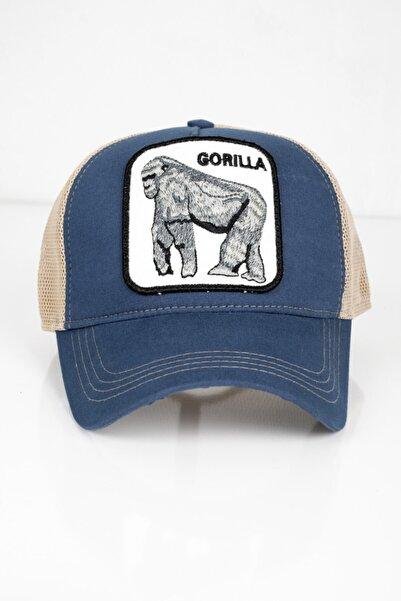 DeepSEA Erkek Mavi Goril Figürlü Ayarlanabilir Şapka 1908773