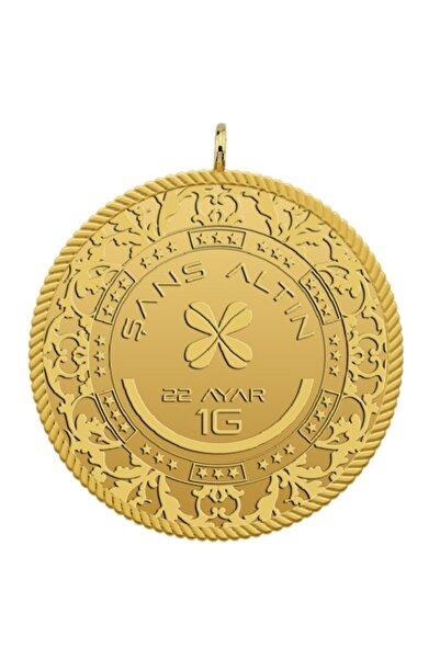 İSGOLD 1 Gram 22 Ayar Yuvarlak Kulplu Altın