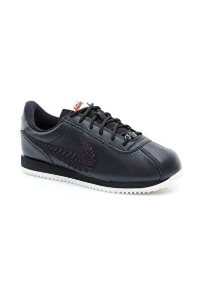 Nike Kadın Siyah Cortez Basic Prm Emb Spor Ayakkabı Av1336-001