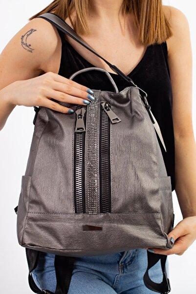 Limoya Bags Kadın Gri Lola  El Ve Sırt Çantası