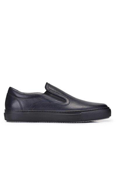 Nevzat Onay Erkek Lacivert Hakiki Deri Sneaker Ayakkabı -11376-