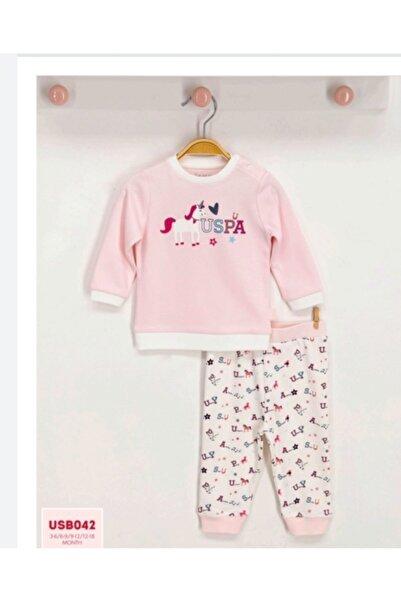 U.S. Polo Assn. Kids U.s.polo.assn Toz Somon Kız Bebek Uzun Kol Ikili Takım