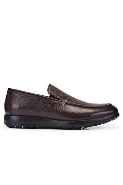 Nevzat Onay Erkek Kahverengi Hakiki Deri Günlük Loafer Ayakkabı -11382-