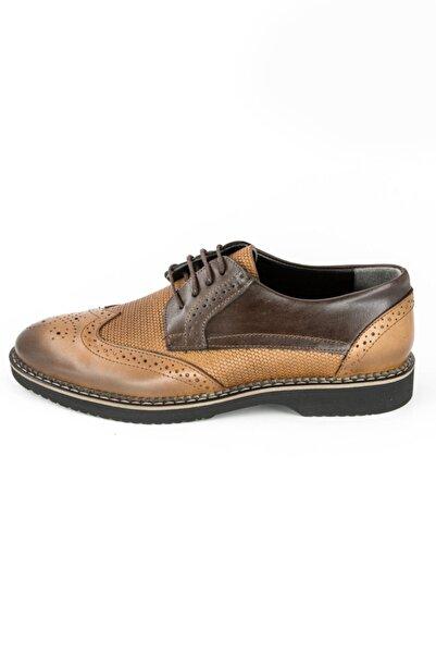 DeepSEA Erkek Taba Bağcıklı Deri Ayakkabı 2001791