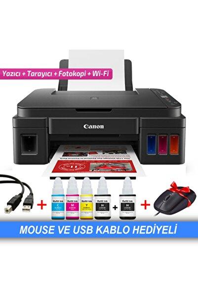 Canon Pıxma G3415 Orjınal Tanklı (forprint Plus Mürekkepli) Yazıcı ( Mouse Ve Usb Kablo Hediye )