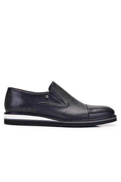 Nevzat Onay Erkek Siyah Hakiki Deri Günlük Loafer Ayakkabı -11694-