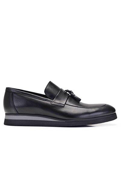 Nevzat Onay Erkek Siyah Hakiki Deri Günlük Loafer Ayakkabı -11668-
