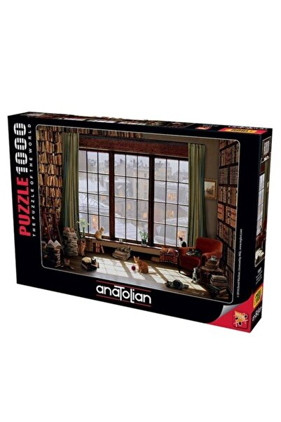 Anatolian Puzzle Anatolian Pencere Kedileri 1000 Parça Puzzle 1065