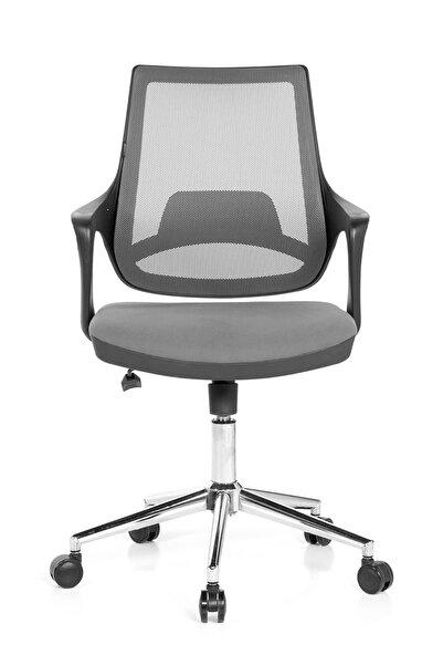 Seduna Skagen Gri Ofis Çalışma Koltuğu | Ofis Sandalyesi | Metal Ayaklı
