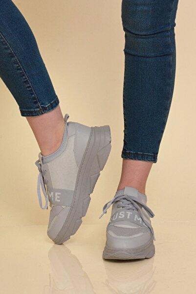 Mossta Kadın Gri Trust Me  Sneaker