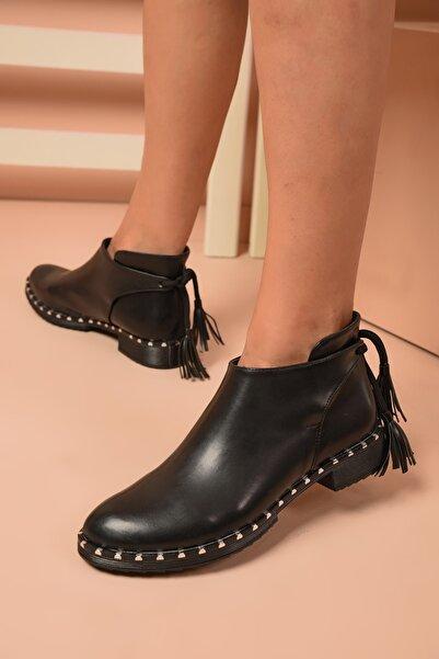 Shoes Time Kadın Siyah Günlük Bot 20k 509