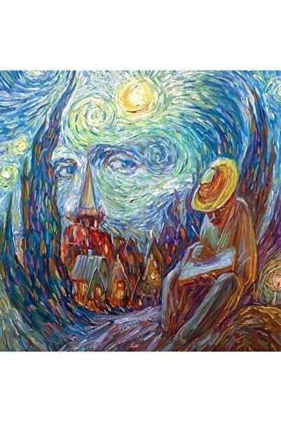 Marcel Kristal Tablo Van Gogh Ve Yıldızlı Gece Elmas Mozaik Tablo 58x58cm