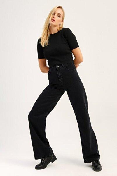 Quzu Kadın Antrasit Bol Pantolon