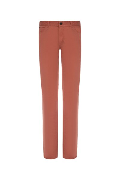Bisse Kadın Turuncu Slim Fit 5 Cep Spor Pantolon
