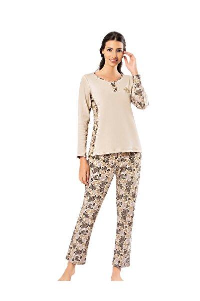 Şahinler Kadın Bej Pijama Takımı Mbp25002-1