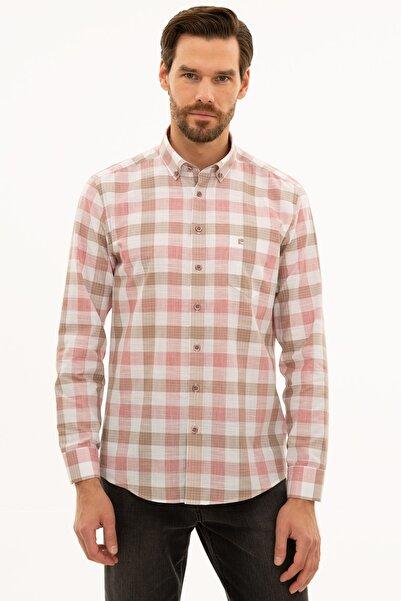Pierre Cardin Erkek Kırmızı Regular Fit Gömlek