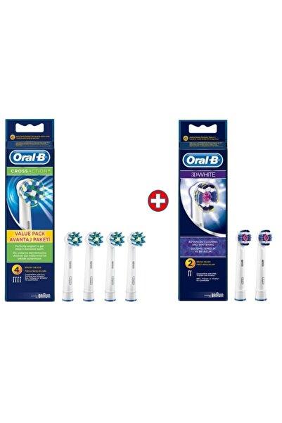 Oral-B Diş Fırçası Yedek Başlığı Cross Action 4'lü+3d White 2'li