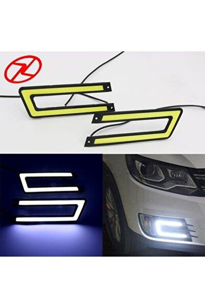 Techmaster Araba U Tipi Gündüz Led Sis Farı Drl Su Geçirmez Model Beyaz Işık
