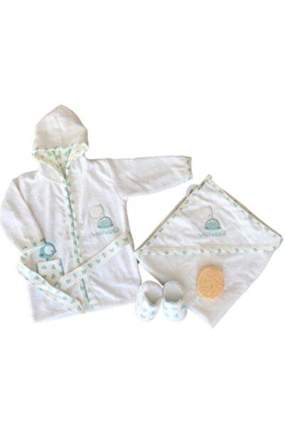 Bebitof Baby Bebitof Kız - Erkek Bebek Havlu Bornoz Seti 10030013