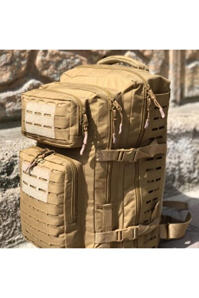 Silyon Askeri Giyim Unisex Çöl Sarısı 55 Litre Su Geçirmez Cordura Kumaş Sırt Çantası
