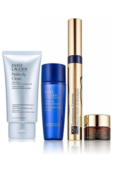 Estee Lauder Sumptuous Extreme Volume Maskara Seti+perfectly Clean Multi-action 150 ml