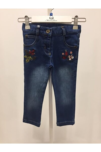 Monna Rosa Kız Çocuk Mavi Pantolon