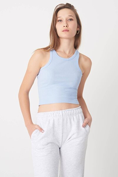 Addax Kadın Mavi Fitilli Kısa Atlet A0942 - X2 ADX-0000022303