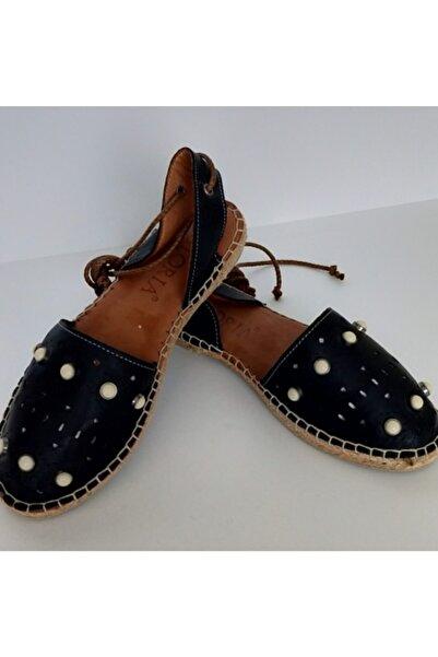 Gloria Kadın Siyah Taşlı Sandalet