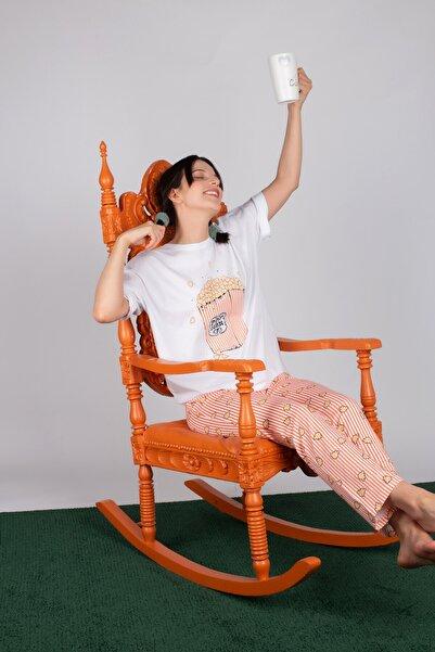 Hays Kadın Pembe Pamuklu Uzun Pijama Takımı