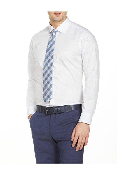 Bisse Erkek Beyaz Uzun Kollu Klasik Gömlek
