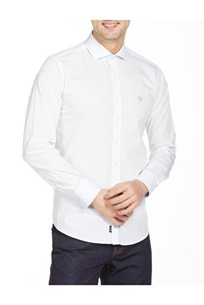 Bisse Erkek Beyaz Uzun Kollu Italyan Yaka Klasik Gömlek