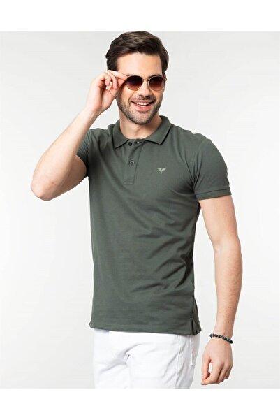 Tudors Erkek Yeşil Polo Yaka Spor T-Shirt