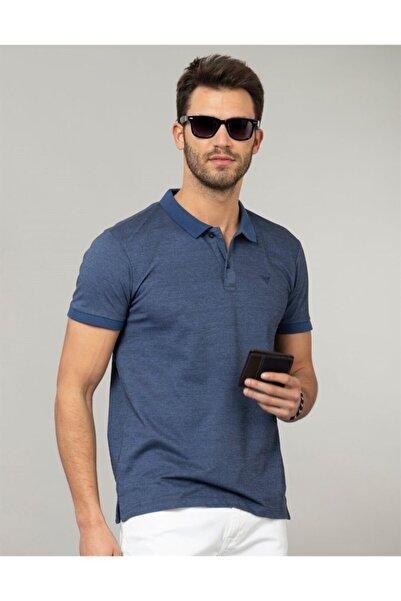Tudors Erkek Mavi Polo Yaka Düz T-Shirt