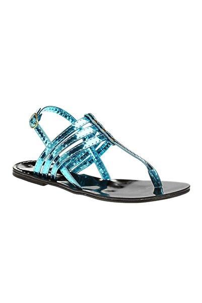 David Jones Kadın Turkuaz Ayna Parmak Arası Sandalet